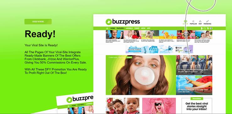 Buzzpress working step 4